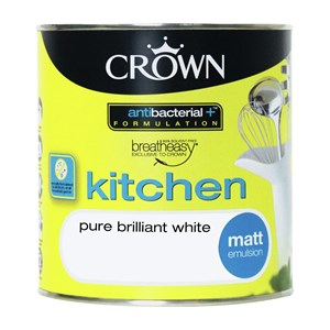 Crown Kitchen Emulsion V/Matt B/White 2.5 Ltr