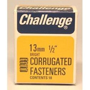 Challenge,Corrugated Fasteners,13mm,Box 18