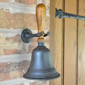 Cast Iron Dinner Hand Bell with Wall Mounting - J1371