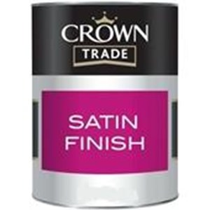 Crown,Trade Satin Paint,1 Ltr,Colour Mixed In Store