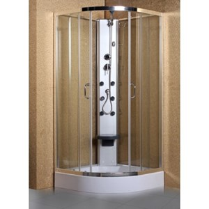 Hydra Shower Cabin With Body Jets and Tray | 900 x 900 | HYS909
