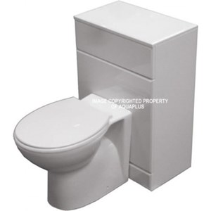 500mm White WC Unit - 300mm depth | AP1073FR
